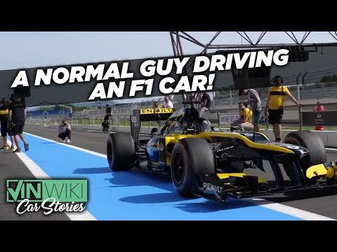 A normal guy describes his attempts to drive a full-spec Formula 1 racing car around a track and not kill himself in the process