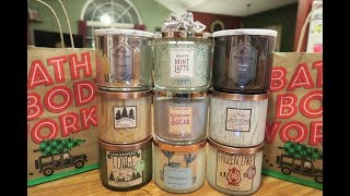 Bath & Body Works / White Barn - Holiday 2017 Candle Haul #2