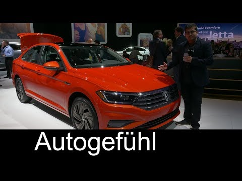 All-new Volkswagen Jetta 2019 REVIEW - VW NAIAS 2018 Autogefühl