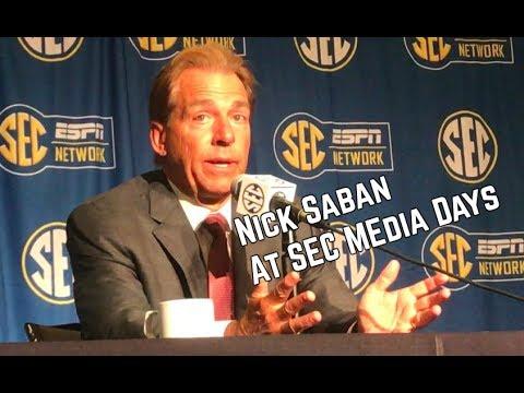 Nick Saban speaks at SEC Media Days