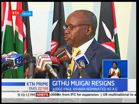 Githu Muigai's departure at the height of Uhuru's political face-off with NASA leaves tongues waggin