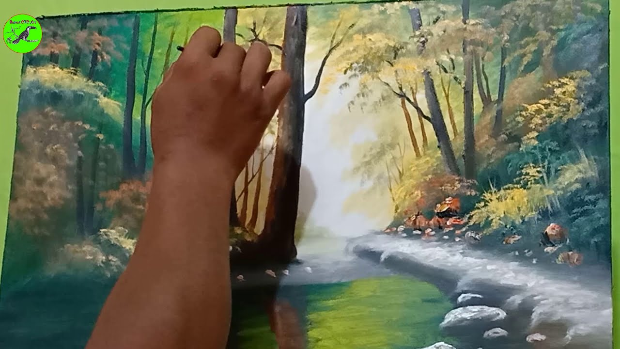 watercolor painting nature by rfa km