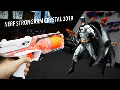 Review súng Nerf N-Strike Elite Strongarm Crystal White 2019, Đại chiến với Batman mập