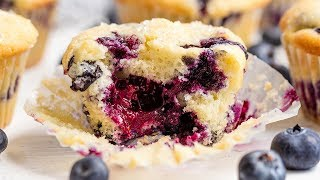 How to Make The Best Blueberry Muffins Ever!   The Stay At Home Chef