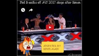 Two Judges Fight Live!! on America's Got Talent -Mel b faceoff Simon Cowell