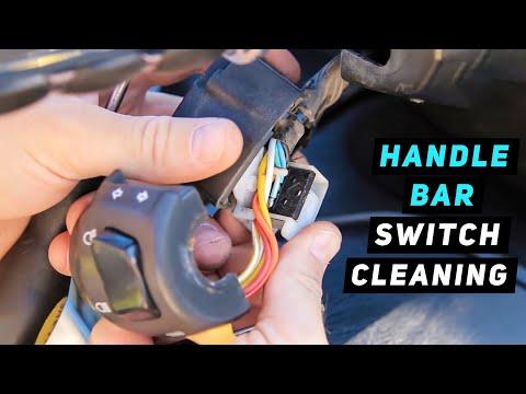 Turn Signal/Headlight Switch Disassembly & Cleaning Procedure Part 1 - 07+ Suzuki Burgman 400