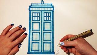 Doctor Who Tardis Drawing - Pixel Art