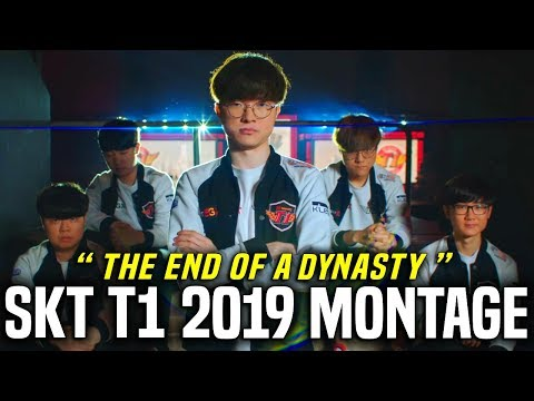 """SKT T1 2019 ULTIMATE MONTAGE - """"THE END OF A DYNASTY"""" - FAREWELL KKOMA, KHAN, CLID & MATA"""