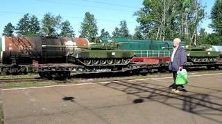 Танки Т-80 на станции Ораниенбаум-2
