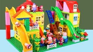 Peppa Pig Blocks Mega House Construction Sets - Lego Duplo House Creations Toys For Kids #3