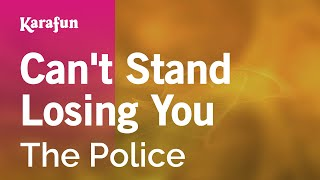 Karaoke Can't Stand Losing You   The Police *