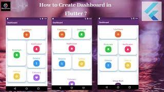 Flutter Tutorial - Flutter Dashboard Tutorial Part -1