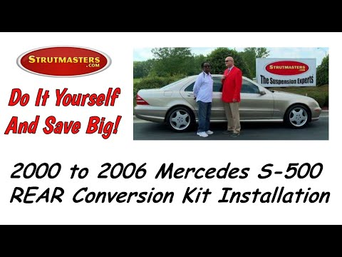 1999-2006 Mercedes S 500 With A Strutmasters Air Suspension Conversion (Rear Install Video)