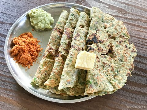 ಗೋದಿ ರೊಟ್ಟಿ  । godi rotti with greens | Healthy Breakfast recipe
