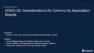 COVID-19: Considerations for Community Association Boards