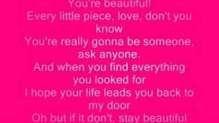 Stay beautiful W/ lyrics