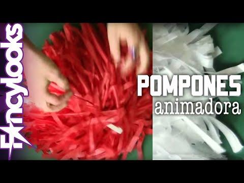 Pompones animadora DIY: Disfraz Grease, Sandy Cheerleader
