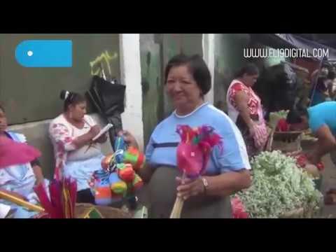 Comercio de la tradional Purisima Masaya