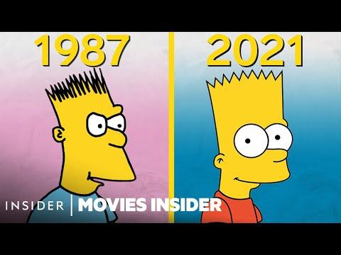The Simpsons Animation Evolution