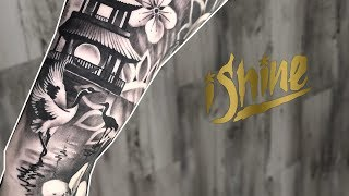 Tattoo Highlight - Japanese Style  Black & Grey Realism Tattoos - IShine Ink