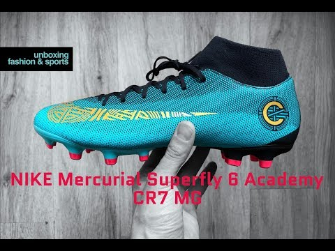 edd223623 ... official nike mercurial superfly 6 academy cr7 mg born leader unboxing  on feet football boots 4k
