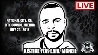 Live National City City Council Meeting | #JusticeForEarlMcNeil