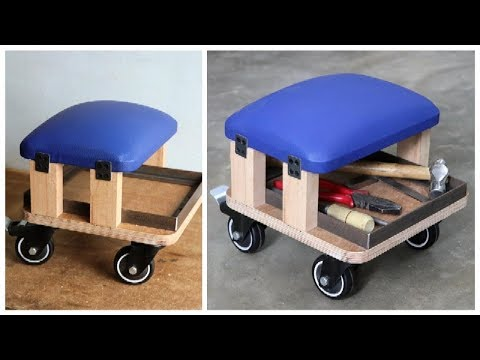 Incredible How To Build A Rolling Storage Seat Diy Rolling Work Seat Inzonedesignstudio Interior Chair Design Inzonedesignstudiocom