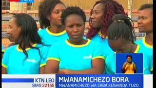 Mlinda lango wa timu ya mpira ya magongo Cynthia Akinyi atuzwa mwanamichezo bora wa mwezi wa Januari