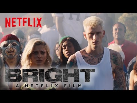 Bright: Behind the Scenes | Machine Gun Kelly, X Ambassadors and Bebe Rexha - Home | Netflix