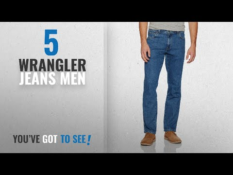 Top 10 Wrangler Jeans Men [2018]: Wrangler Men's Regular Fit STR Stonewash Jeans