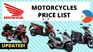Honda Motorcycles Price List In Philippines | Brand New And Second Hand | 2020 Updated