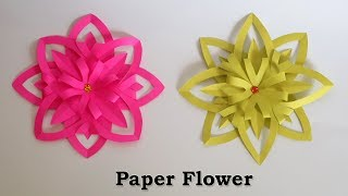 Flower making with paper viveos paper flowers easy paper crafts flower making with paper mightylinksfo