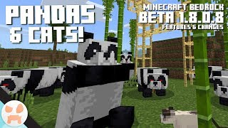 PANDAS, CATS, & SCAFFOLDING in Minecraft! | Bedrock Beta 1.8.0.8 Features (Minecraft 1.14 Preview)