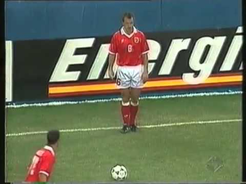 Sportmuseum Schweiz - Objekte: Trikot Dominique Herr Schweiz vs Rumänien 4:1 WM 1994 Vorrunde