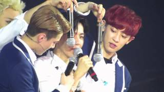 140601 - 02 THE LOST PLANET IN HK BAEKHYUN cute moment 'ㅅ'