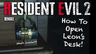 Resident Evil 2 Demo | Leon's Desk Puzzle Walkthrough SOLVED | What's Inside? | Plus Easter Eggs