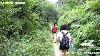 Video : China : Hiking along the Li River, GuangXi province - video