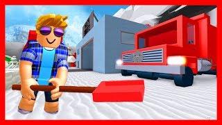 СОБИРАЕМ СНЕГ И ПИНГВИНОВ в роблокс Snow Shoveling Simulator roblox ДЕТСКИЕ ИГРЫ - снежный барон