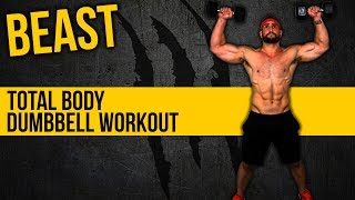 Dumbbell Full Body Muscle Building Home Workout by BarbarianBody