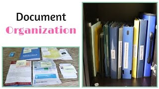 Document Organization - Organize Your Important Papers