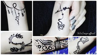 S Letter Mehndi Designs For Fingers मफत