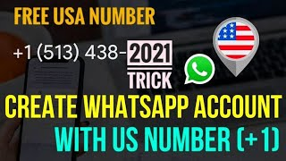 How to get a FREE USA Number for Whatsapp | Fake Whatsapp Account Trick 2021 | Free Virtual Number