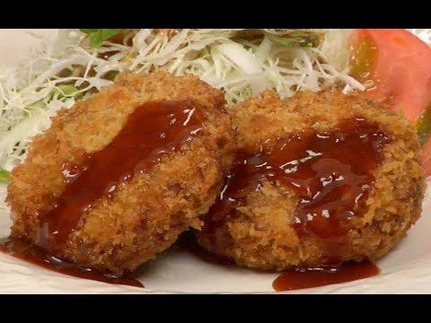 Menchi-katsu (Deep-Fried Breaded Ground Meat) Recipe メンチカツ 作り方レシピ