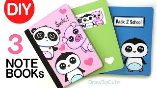 DIY Notebook Cover Designs for Back to School   Super EASY!