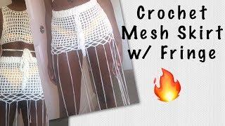 Crochet Mesh Skirt W/ Fringe (Part 2)