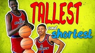 Who Are The Tallest And Shortest Players in NBA History?