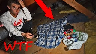 found stranger living in our attic..we can't find them...