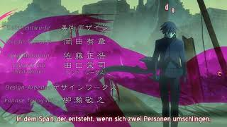 Darker Than Black - OP - Abingdon Boys School- Howling – Ger Sub + Kara FX