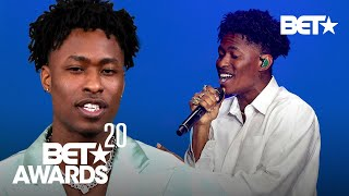 Singer Lucky Daye Describes His Transition From Behind The Pen To Front Stage | BET Awards 20