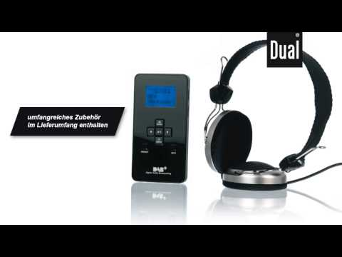 Dual DAB (Digitalradio) Pocket Radio 3 SD mit MP3-Player und SD-Card